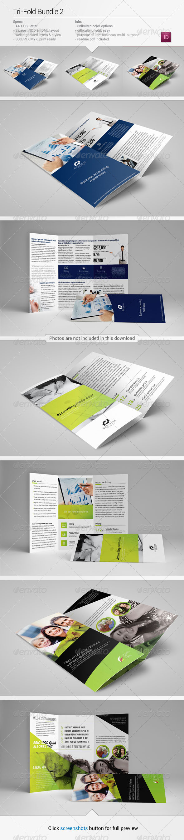 GraphicRiver Tri-Fold Bundle 2 6250822