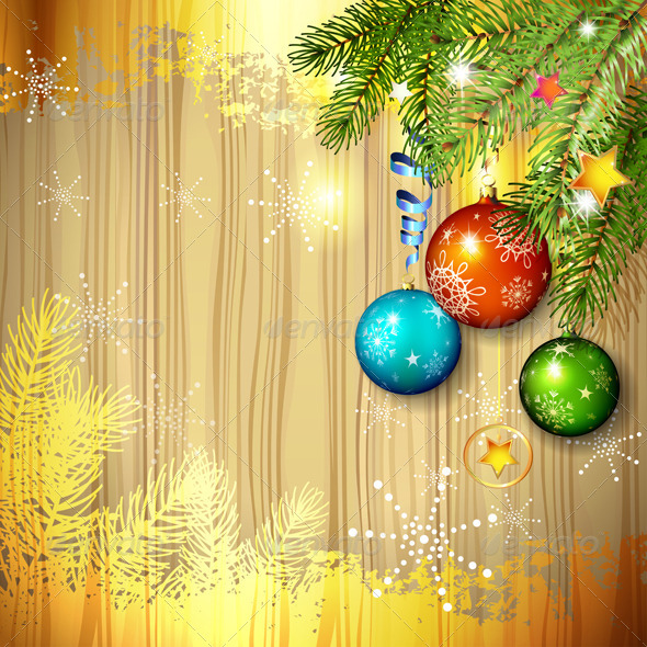 Christmas Ball and Pine Tree