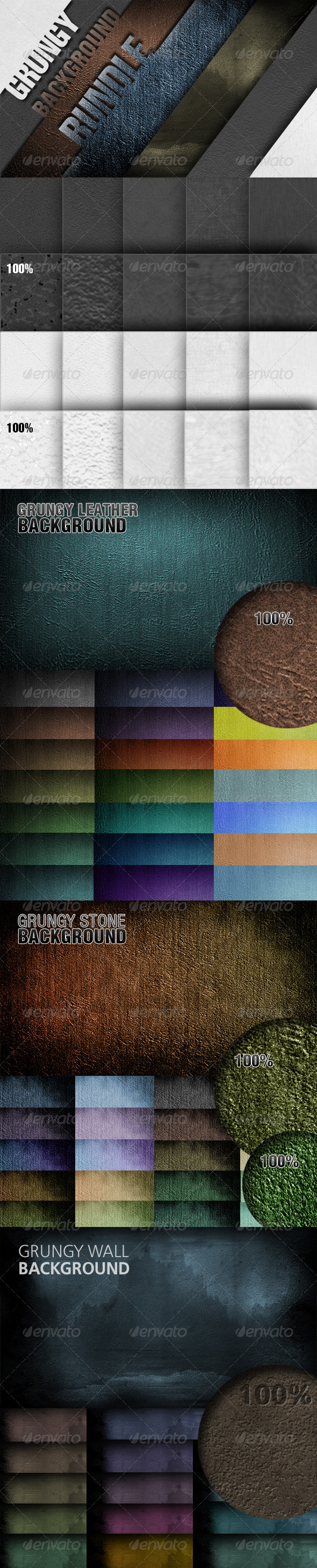 GraphicRiver Grungy Background Bundle 6251533