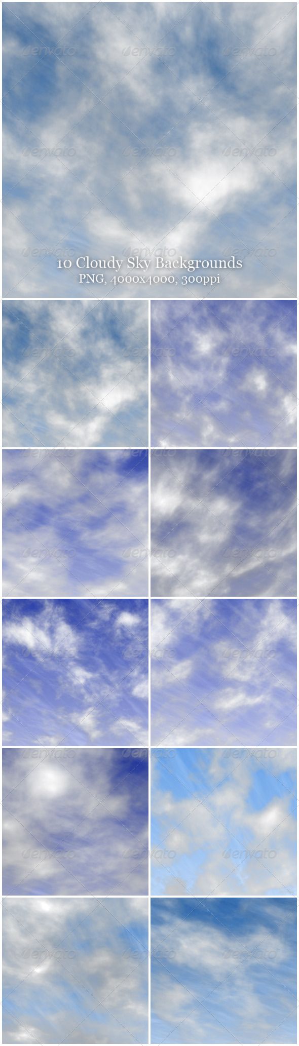 GraphicRiver 10 Cloudy Sky Backgrounds 6251612