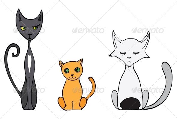 GraphicRiver Cartoon Cats 6251730