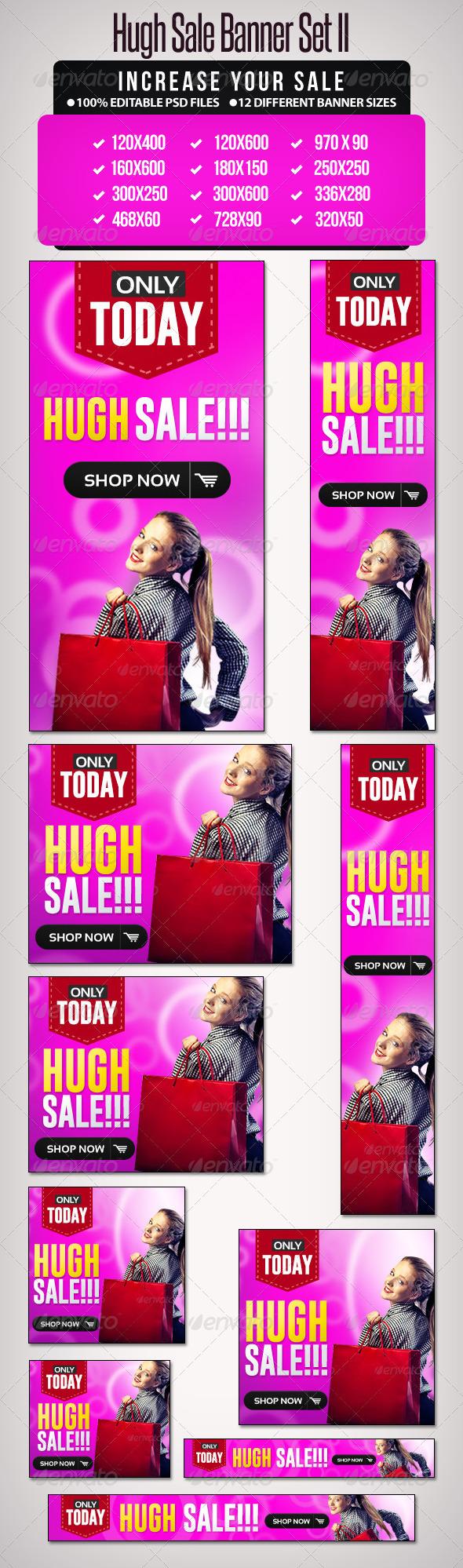 GraphicRiver Hugh Sale Banner Set 2 6238471