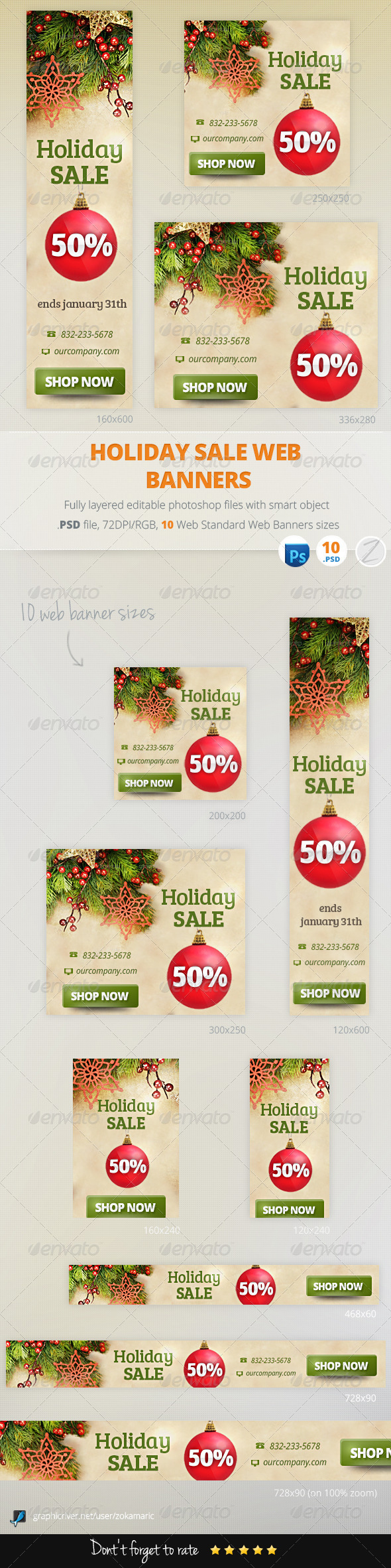 GraphicRiver Holiday Sale Web Banners 6251861