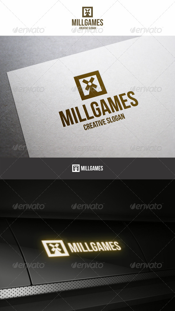 GraphicRiver Mill Games Entertainment Logo 6251865