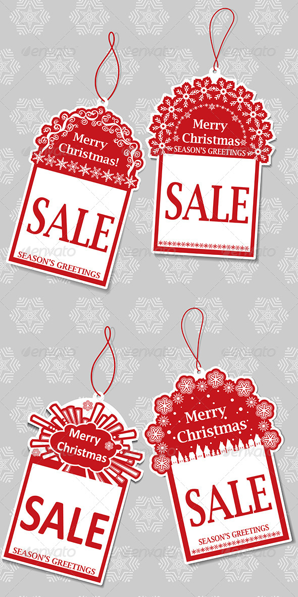 GraphicRiver Christmas Sale Tags 6251917