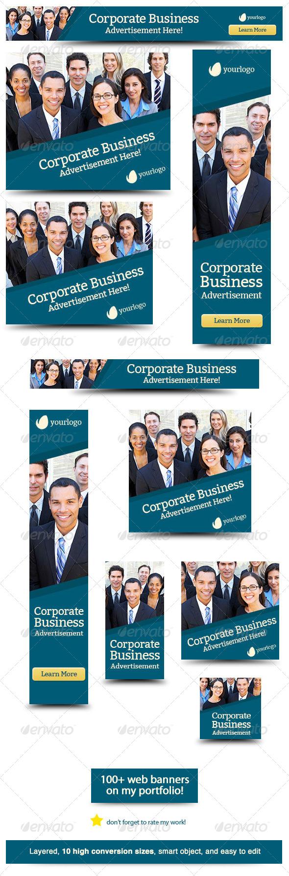 GraphicRiver Corporate Web Banner Design Template 32 6251973