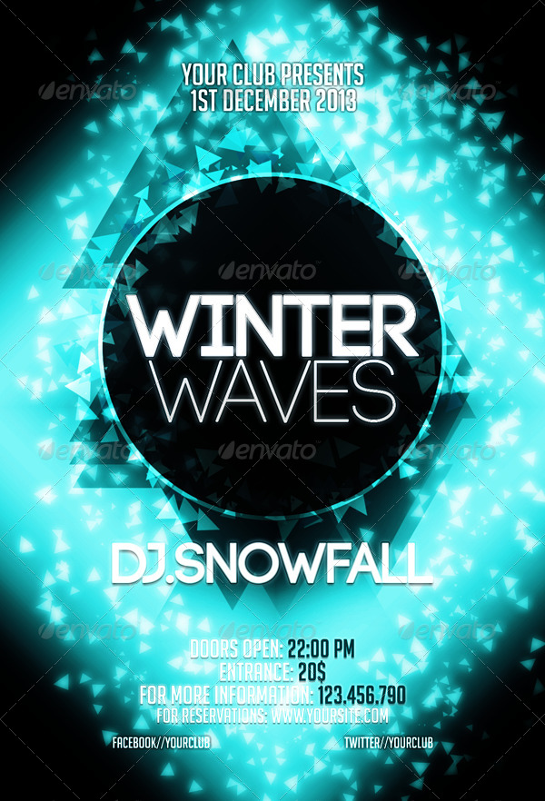 Winter Waves Flyer Template by CRIScx22 – Winter Flyer Template