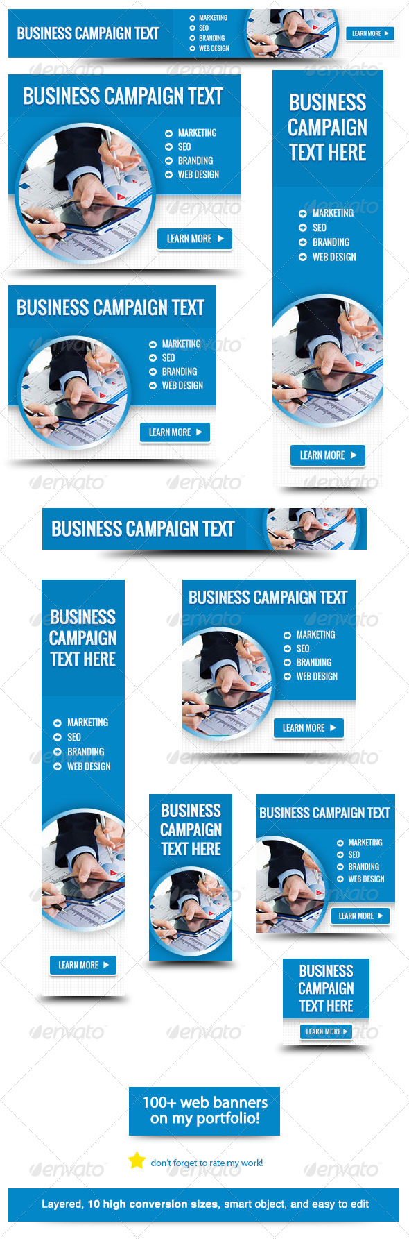 Corporate Web Banner Design Template 33 Banners Amp Ads