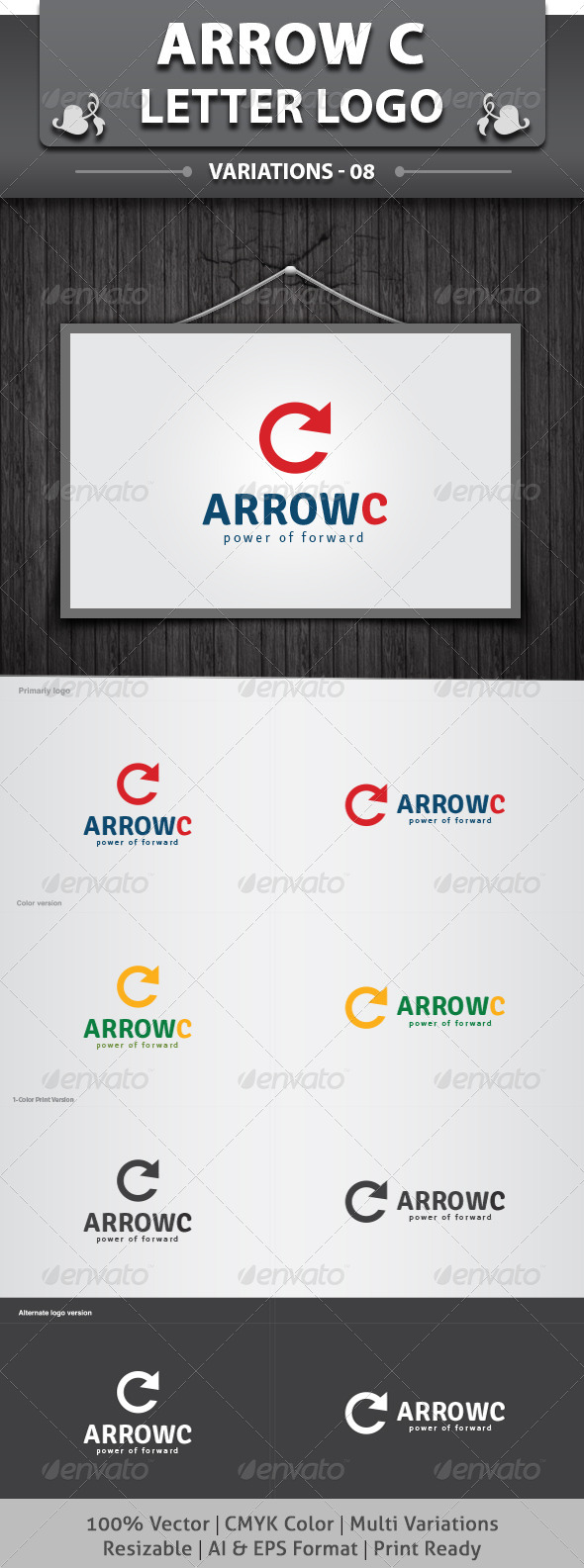 Arrow C Logo - Letters Logo Templates