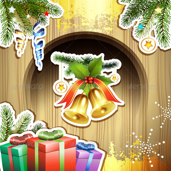 GraphicRiver Christmas Bells and Gifts 6252309