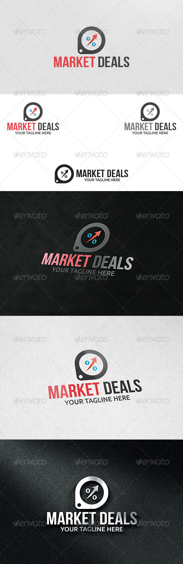 GraphicRiver Market Deals Logo Template 6252383