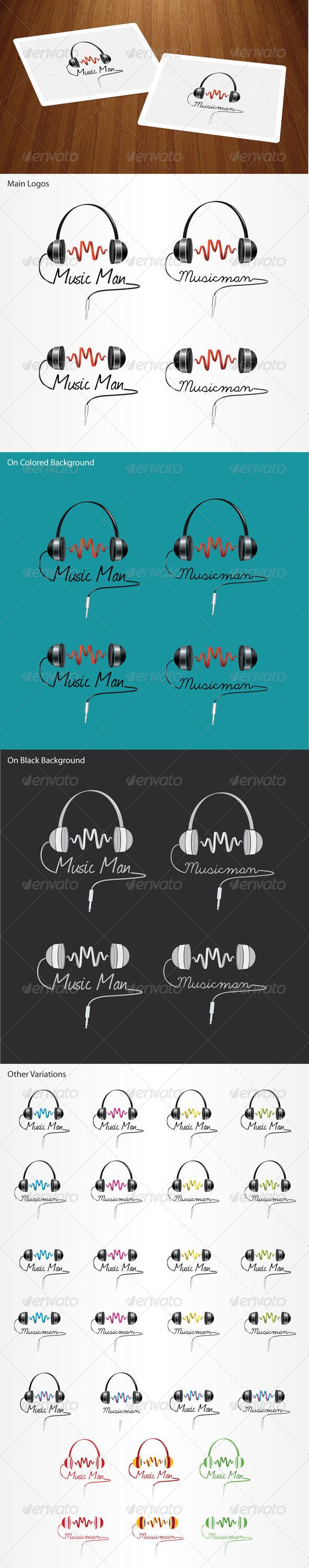 GraphicRiver Music Man Logo 6246085
