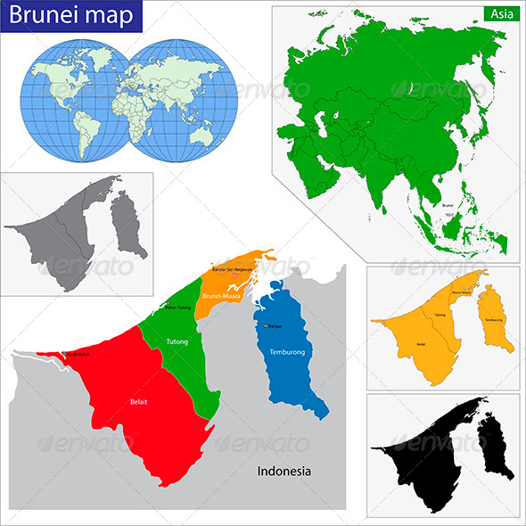 GraphicRiver Brunei Map 6252558
