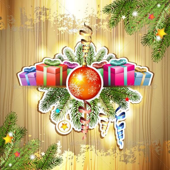 GraphicRiver Christmas Gifts and Ball 6252561