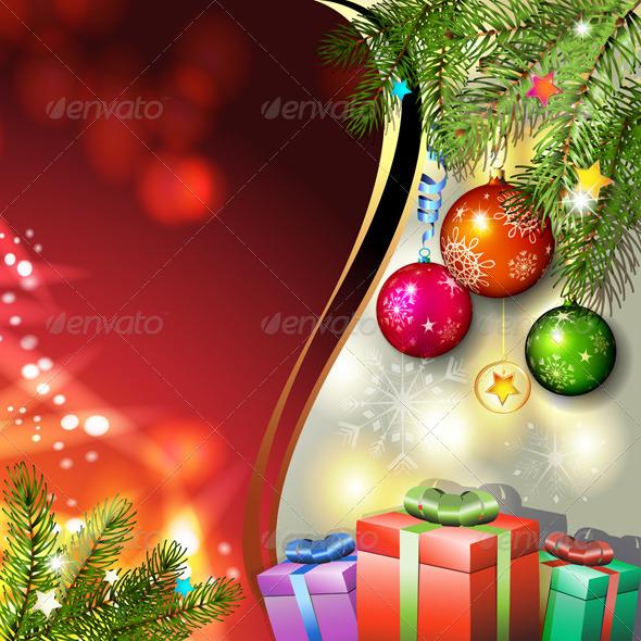 GraphicRiver Christmas Gifts and Balls 6252573