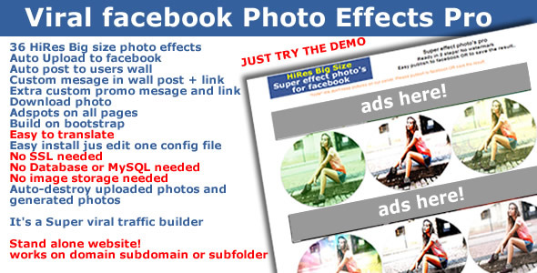 CodeCanyon Viral Traffic Facebook Photo Effects Pro 6252644
