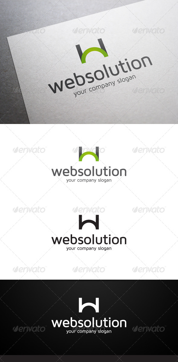GraphicRiver Web Solution W Letter Logo 6252746