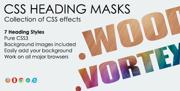 CodeCanyon CSS Heading Masks 6252791