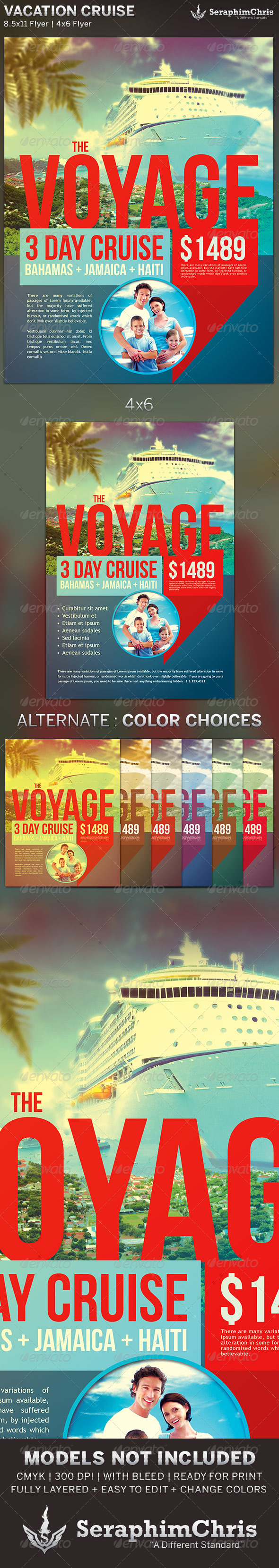 GraphicRiver Vacation Cruise Travel Flyer Template 6252821