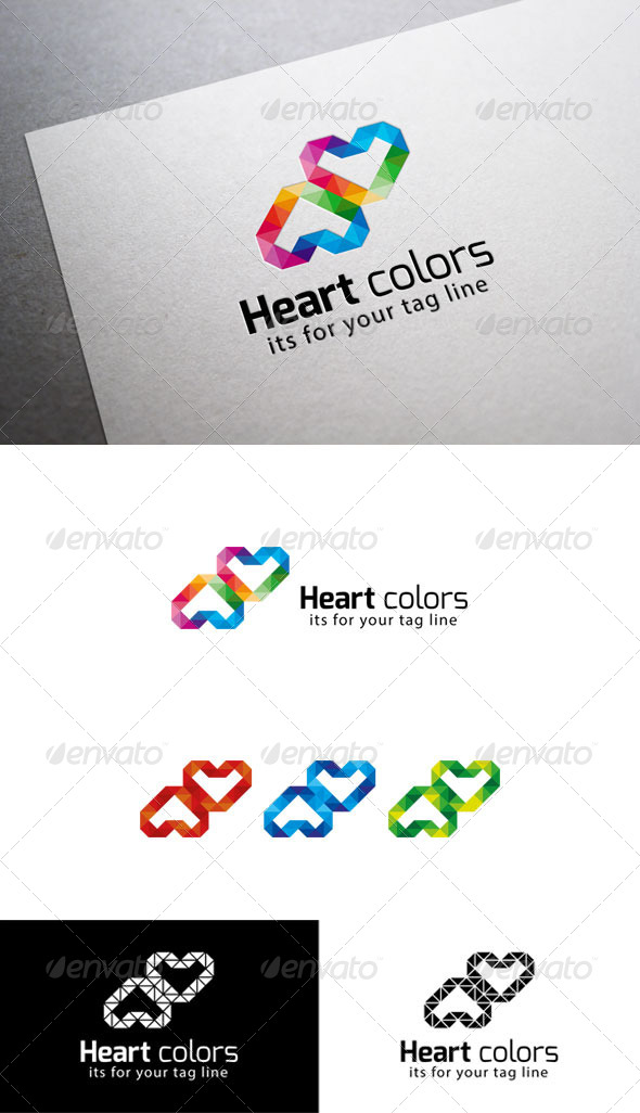 GraphicRiver Heart Colors 6253083
