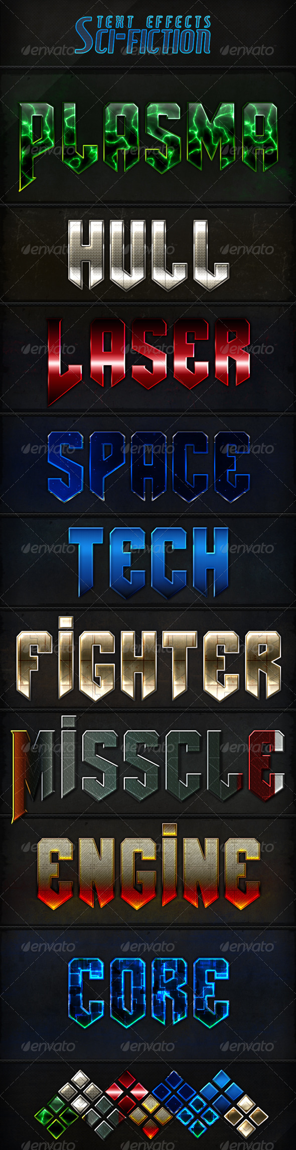 GraphicRiver Sci-Fi Text Styles 6253345