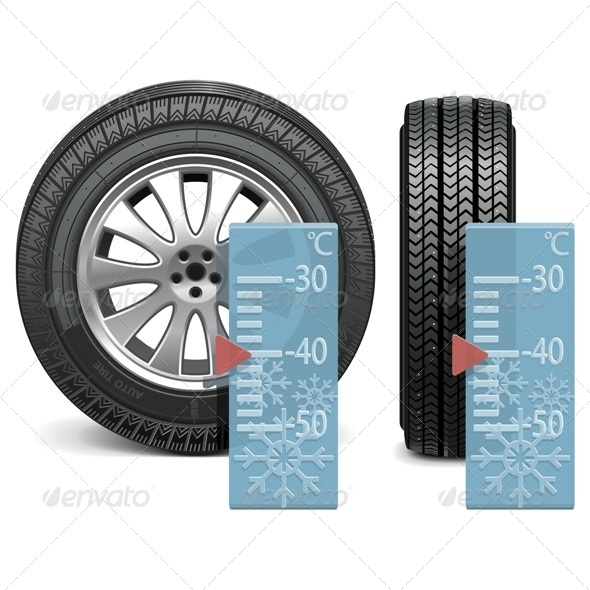 GraphicRiver Vector Winter Tire 6253390