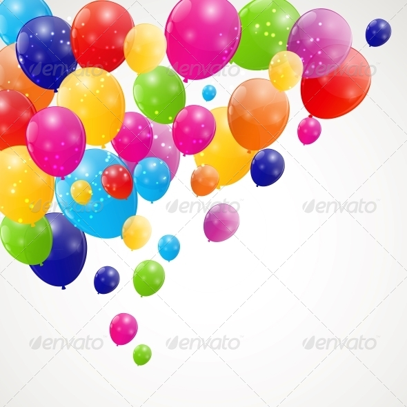 GraphicRiver Color Glossy Balloons Background 6253812