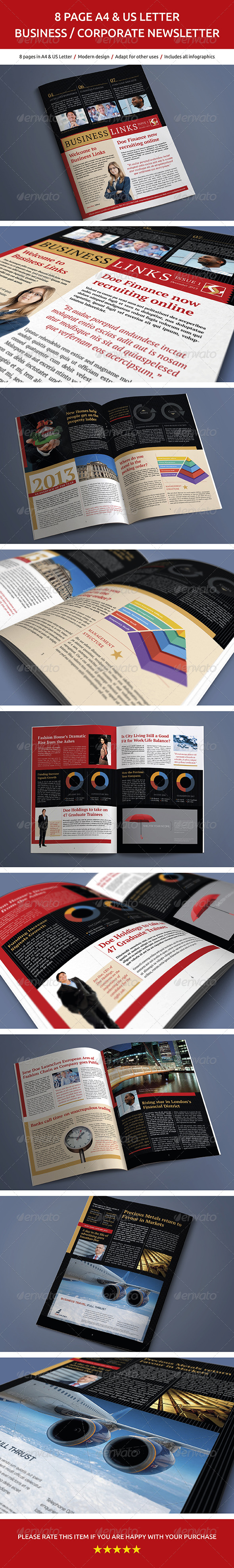 GraphicRiver 8 Page Business and Corporate Newsletter No.2 6253961