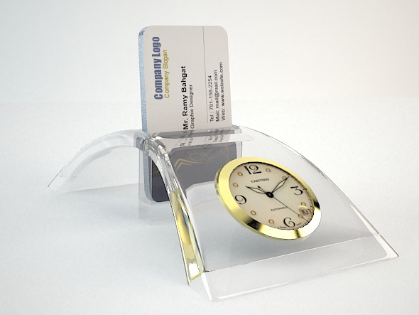 Crystal Office Card Pocket - 3DOcean Item for Sale