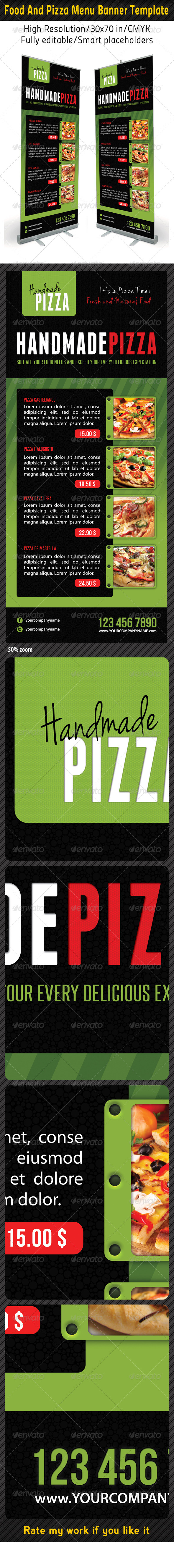 GraphicRiver Food And Pizza Menu Banner Template 06 6254199