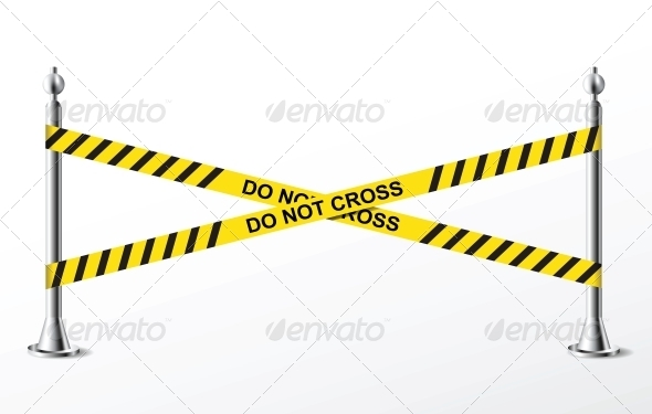 GraphicRiver Do Not Cross Yellow Police Tape 6254217