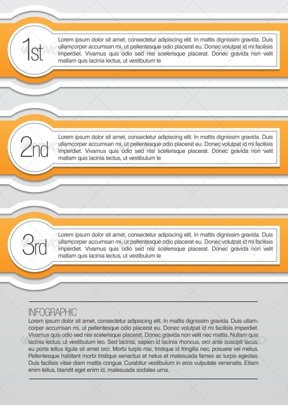 Orange and White Rounded Infographic Lables