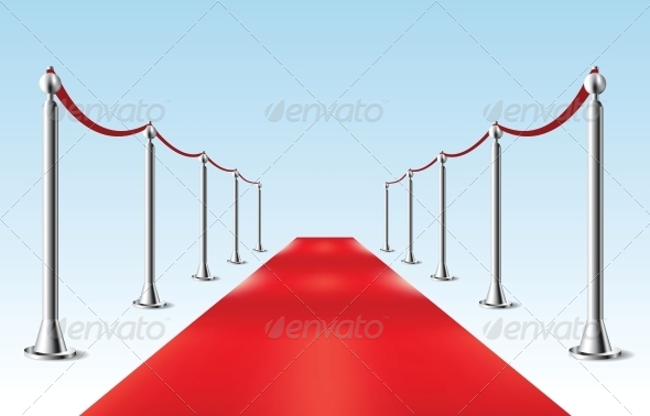 GraphicRiver Red Carpet Vector illustration Isolated 6254332