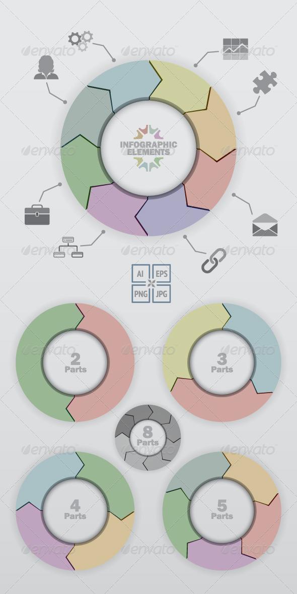 GraphicRiver Color Circle Arrows 6254334