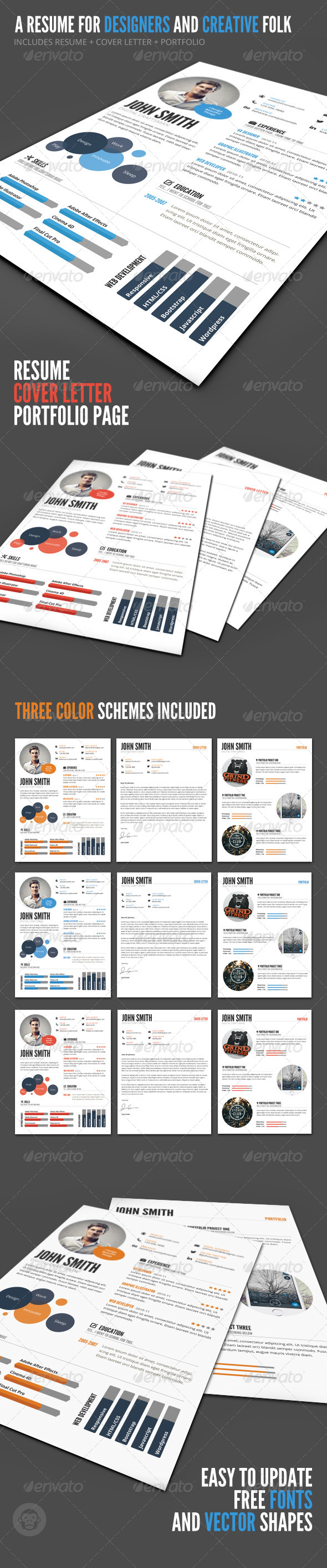 GraphicRiver InfoGraphic Style Resume Template 6254346