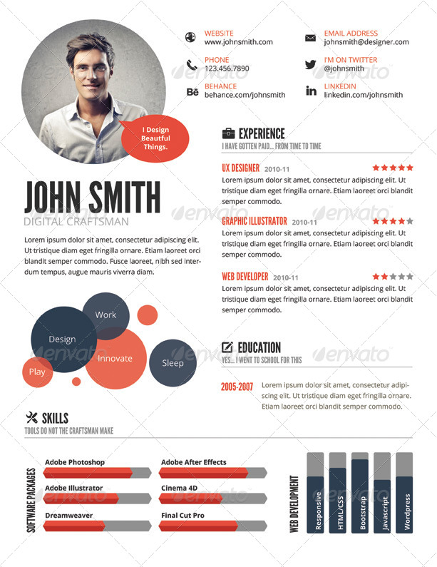 Ux Designer Resume free resume template for uiux designers on behance Infographic Style Resume Template