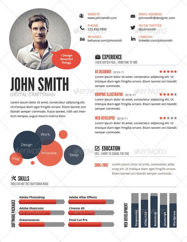 Ux Designer Resume ux designer resume experienced Infographic Style Resume Template
