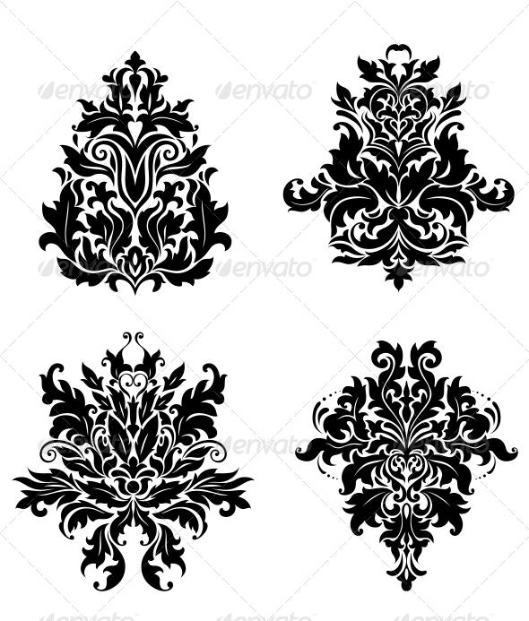GraphicRiver Vintage Damask Patterns 6254686