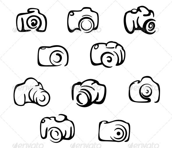 GraphicRiver Camera Icons and Symbols Set 6254702
