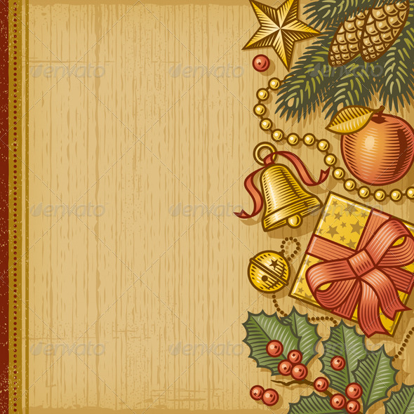 GraphicRiver Retro Christmas Background 6254828