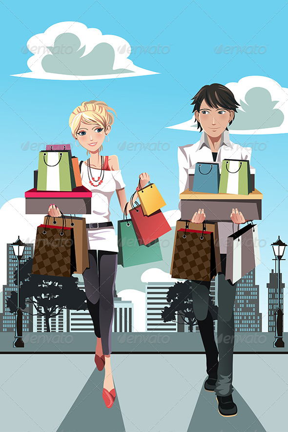 GraphicRiver Shopping Couple 6255006