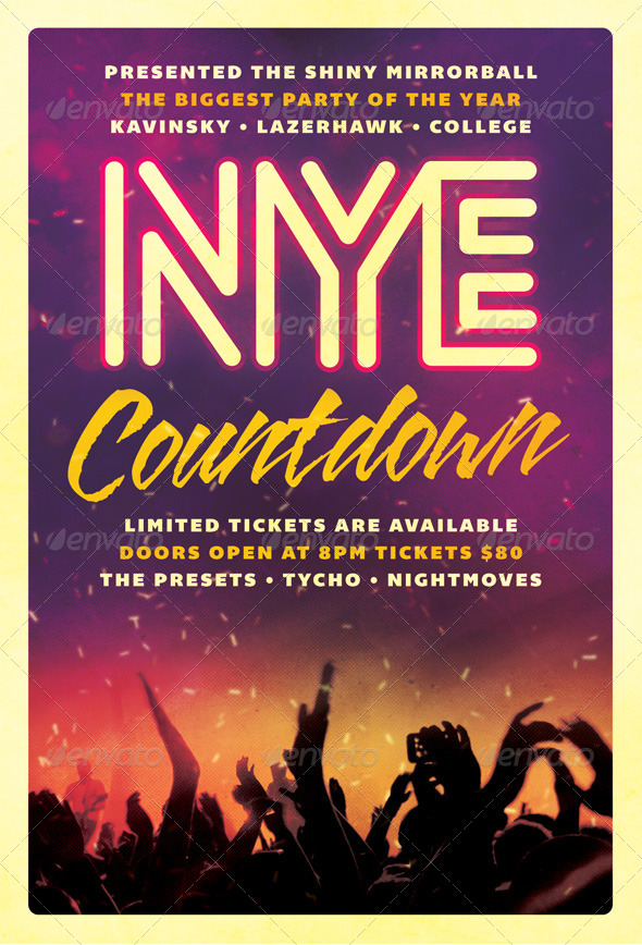 GraphicRiver Countdown New Years Eve Flyer 6255007