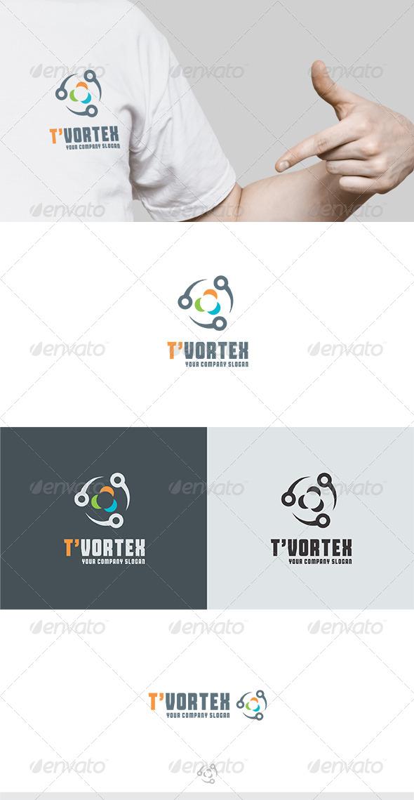 GraphicRiver T Vortex Logo 6255012