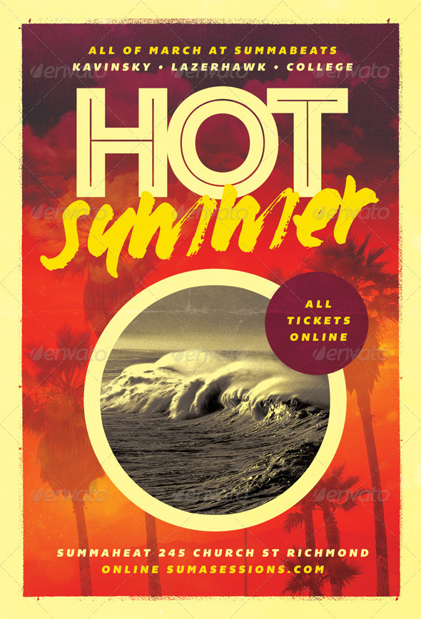 GraphicRiver Hot Summer Flyer Template 6255054