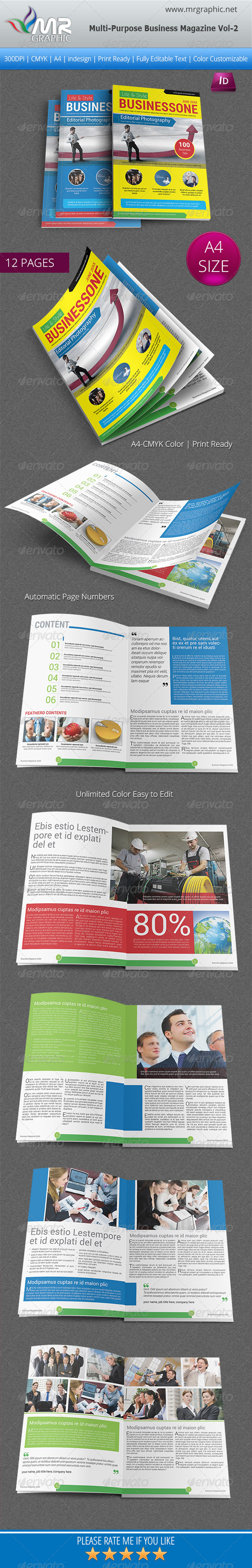 GraphicRiver Multipurpose Business Magazine Vol-2 6255086
