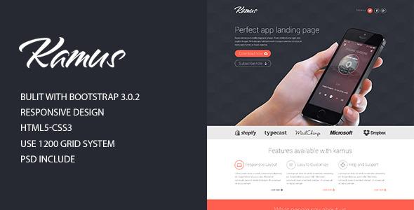 Kamus - Modern, Responsive Landing Page
