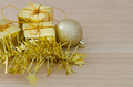 Gold Christmas bauble and Three Present Boxes - PhotoDune Item for Sale