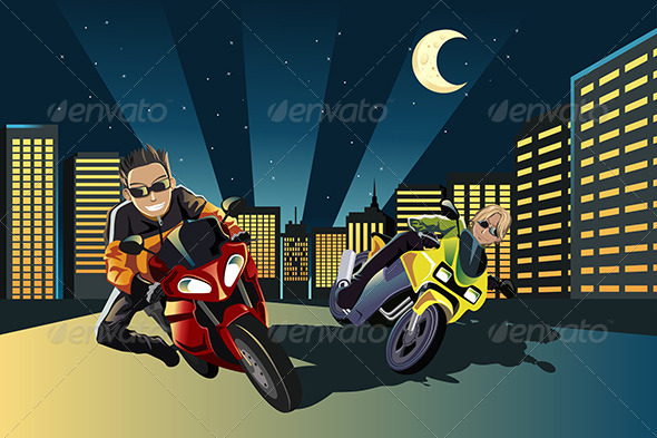 GraphicRiver Motorcycle Racers 6255145