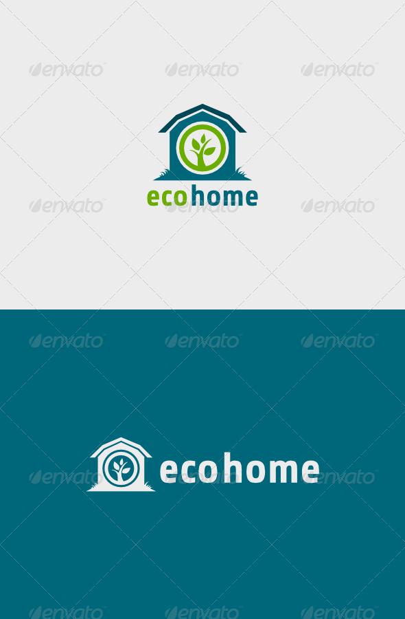 GraphicRiver Eco Home Logo 6255823