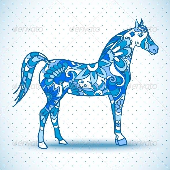 GraphicRiver Horse Vector Illustration 6255828